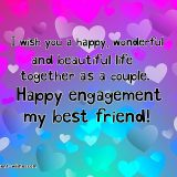engagement wishes for best friend